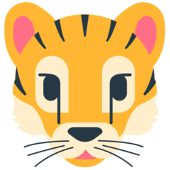 Tiger Face Emoji in Mozilla Browser