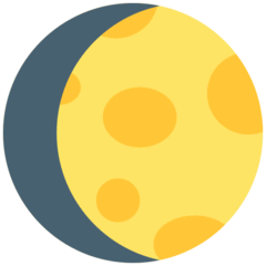 Waxing Gibbous Moon Emoji in Mozilla Browser