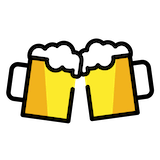 Clinking Beer Mugs Emoji in Openmoji