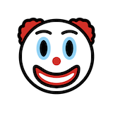 Clown Face Emoji in Openmoji