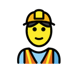 Construction Worker Emoji in Openmoji