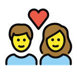 Couple With Heart: Woman, Man Emoji in Openmoji