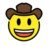 Cowboy Hat Face Emoji in Openmoji