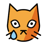 Crying Cat Emoji in Openmoji