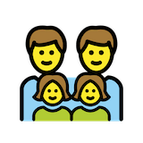 Family: Man, Man, Girl, Girl Emoji in Openmoji