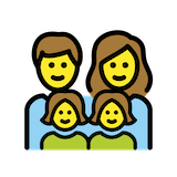 Family: Man, Woman, Girl, Girl Emoji in Openmoji