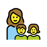 Family: Woman, Girl, Boy Emoji in Openmoji
