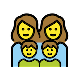 Family: Woman, Woman, Boy, Boy Emoji in Openmoji