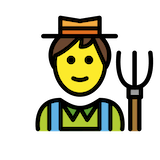 Farmer Emoji in Openmoji