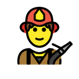 Firefighter Emoji in Openmoji