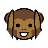 Hear-no-evil Monkey Emoji in Openmoji