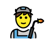 Man Factory Worker Emoji in Openmoji