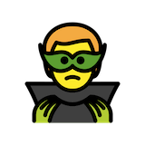 Man Supervillain Emoji in Openmoji