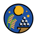Moon Viewing Ceremony Emoji in Openmoji