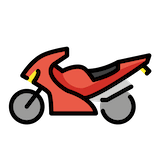 Motorcycle Emoji in Openmoji
