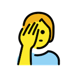 Person Facepalming Emoji in Openmoji