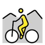 Mountainbiker(in) Emoji Openmoji