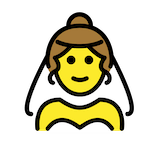 Person With Veil Emoji in Openmoji