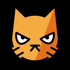 Cara de gato furioso Emoji Openmoji