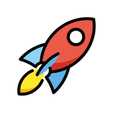 Rocket Emoji in Openmoji