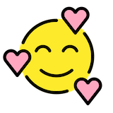 Smiling Face With Hearts Emoji in Openmoji