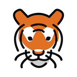 Tiger Face Emoji in Openmoji