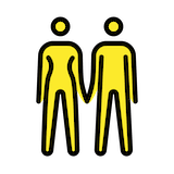 Woman And Man Holding Hands Emoji in Openmoji