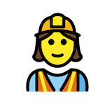 Woman Construction Worker Emoji in Openmoji