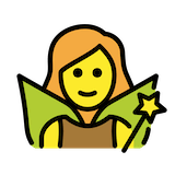 Woman Fairy Emoji in Openmoji