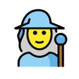 Woman Mage Emoji in Openmoji
