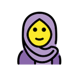 Woman With Headscarf Emoji in Openmoji