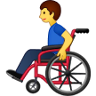 Man In Manual Wheelchair Emoji on Samsung Phones