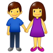 Woman And Man Holding Hands Emoji on Samsung Phones