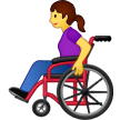Woman In Manual Wheelchair Emoji on Samsung Phones