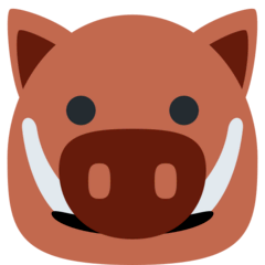 Boar Emoji on Twitter