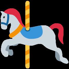 Cavallo della giostra Emoji Twitter