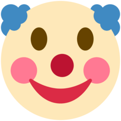 Clown Face Emoji on Twitter