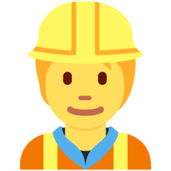 Construction Worker Emoji on Twitter