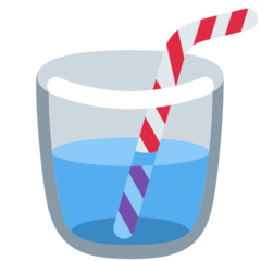 Cup With Straw Emoji on Twitter