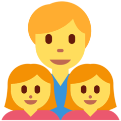 Family: Man, Girl, Girl Emoji on Twitter