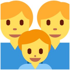Family: Man, Man, Boy Emoji on Twitter