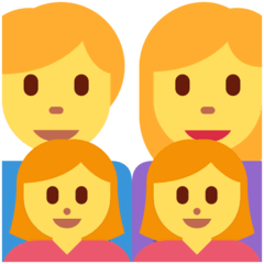 Family: Man, Woman, Girl, Girl Emoji on Twitter