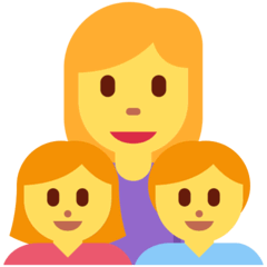 Family: Woman, Girl, Boy Emoji on Twitter
