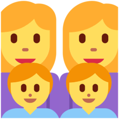Family: Woman, Woman, Boy, Boy Emoji on Twitter