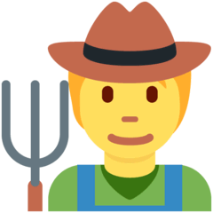 Farmer Emoji on Twitter