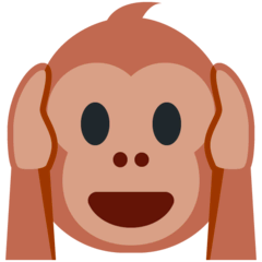 Hear-no-evil Monkey Emoji on Twitter
