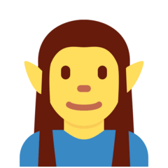 Man Elf Emoji on Twitter