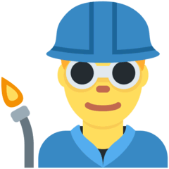 Man Factory Worker Emoji on Twitter