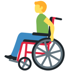 Man In Manual Wheelchair Emoji on Twitter