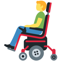 Man In Motorized Wheelchair Emoji on Twitter